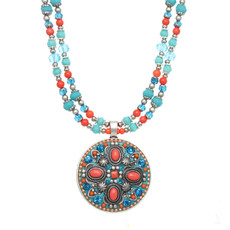 Michal Golan Aruba Large Circle Beaded Necklace