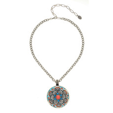 Michal Golan Aruba Large Medallion Necklace