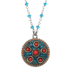 Michal Golan Aruba Medallion Necklace