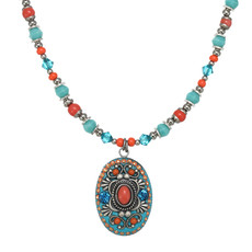 Michal Golan Aruba Oval Beaded Necklace