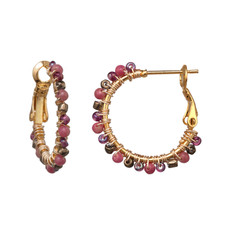 Michal Golan Evening Glow Mini Hoop Earrings