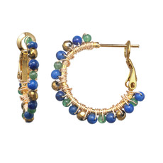Michal Golan Evergreen Mini Hoop Earrings