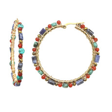 Michal Golan Harvest Moon Hoop Earrings