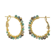 Michal Golan Lush Forest Mini Hoop Earrings