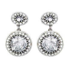 Michal Golan Icy Dreams Double Circle Earrings