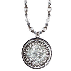 Michal Golan Icy Dreams Circle Locket Necklace
