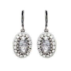 Michal Golan Icy Dreams Oval Earrings