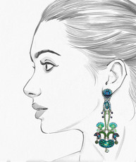 Ayala Bar Green River Chandelier Earrings