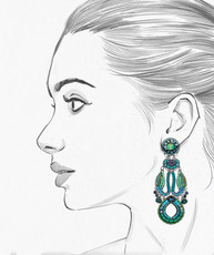Ayala Bar Green River Water Lilies Earrings