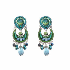 Ayala Bar Green River Crescent Moon Earrings