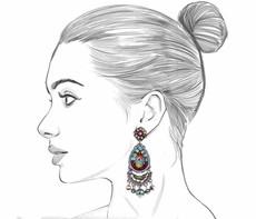 Ayala Bar Autumn Song Apple Basket Earrings