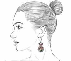 Ayala Bar Autumn Song French Wire Earrings