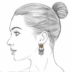 Ayala Bar Autumn Song Sunset Earrings