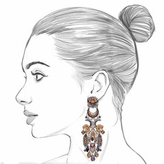 Ayala Bar Golden Fog Distant Light Earrings