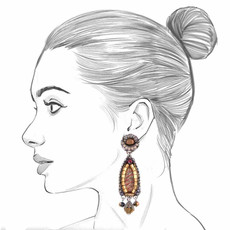 Ayala Bar Golden Fog Wax Candle Earrings