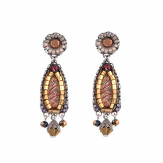 Ayala Bar Golden Fog Wax Candle Earrings