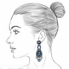 Ayala Bar Magic Potion Sapphire Blue Earrings