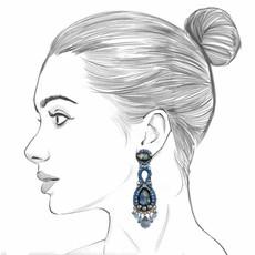Ayala Bar Magic Potion Sapphire Blue Earrings