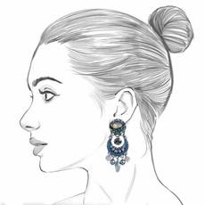 Ayala Bar Magic Potion Blue Moon Earrings