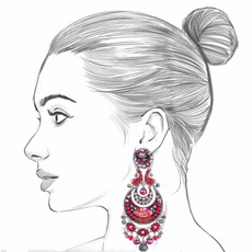 Ayala Bar Crimson Flame Dark Cherry Earrings
