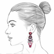 Ayala Bar Crimson Flame Pomegranate Seed Earrings