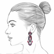 Ayala Bar Crimson Flame Cranberry Earrings