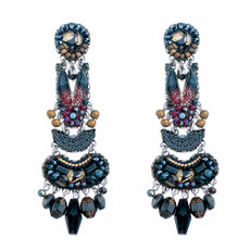 Ayala Bar Moon Jet Black Widow Earrings