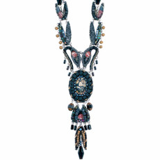 Ayala Bar Moon Jet Long and Layered Necklace