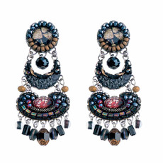 Ayala Bar Moon Jet Black Screen Earrings