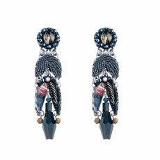 Ayala Bar Moon Jet Light Moth Earrings