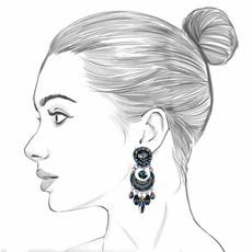 Ayala Bar Moon Jet Blackberry Earrings