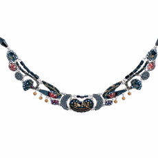Ayala Bar Moon Jet Castle Gates Necklace