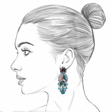 Ayala Bar Tapestry Delight Frozen Petals Earrings