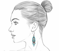 Ayala Bar Tapestry Delight French Wire Earrings