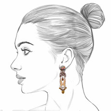 Ayala Bar Sgt Pepper Rustic Bell Earrings