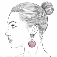 Ayala Bar Circus Mind Plate Spinning Earrings