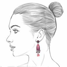 Ayala Bar Ruby Tuesday Inferno Earrings