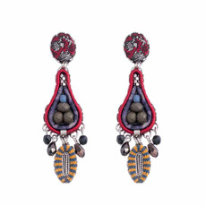 Ayala Bar Black Karma Teardrop Earrings