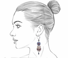 Ayala Bar Black Karma French Wire Earrings