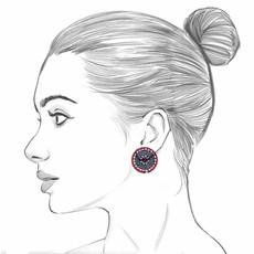Ayala Bar Black Karma Cute as a Button Earrings