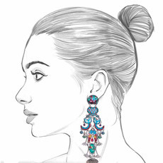 Ayala Bar Blue Castle Grace Earrings