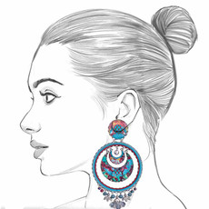 Ayala Bar Blue Castle Camila Earrings