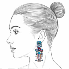 Ayala Bar Blue Castle Elenor Earrings