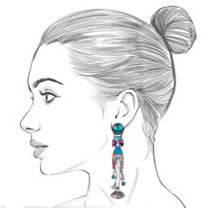 Ayala Bar Blue Castle Leah Earrings