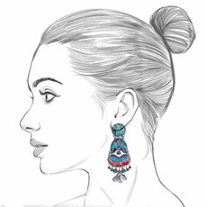 Ayala Bar Blue Castle Luna Earrings