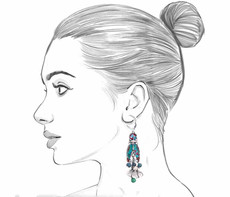 Ayala Bar Blue Castle French Wire Earrings