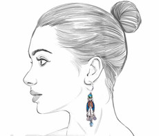Ayala Bar Space Ritual French Wire Earrings