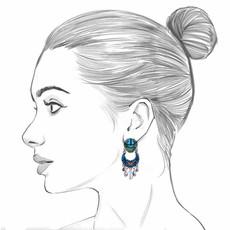 Ayala Bar Space Ritual Candle Star Earrings
