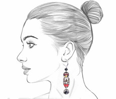 Ayala Bar Sundown Chant French Wire Style Earrings