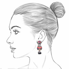 Ayala Bar Sundown Chant French Wire Earrings